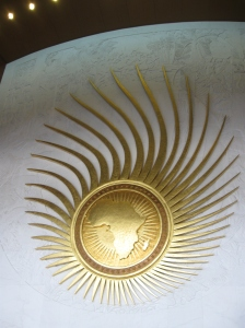 Africa with gold rays